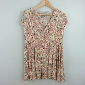 Anthropologie//Floral Ladder Lace Tunic
